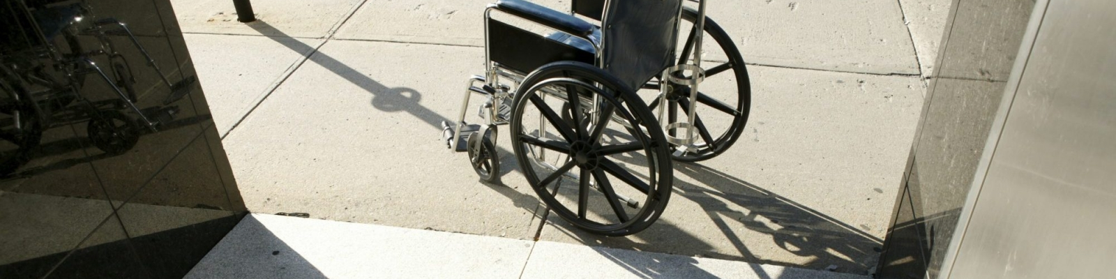 wheelchair on sidewalk